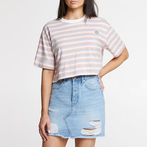 BAGGY CROP TEE PEACHY KEEN