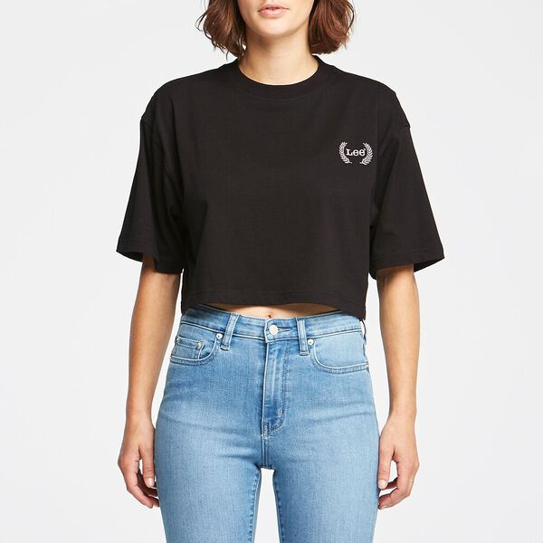 BAGGY CROP TEE BLACK