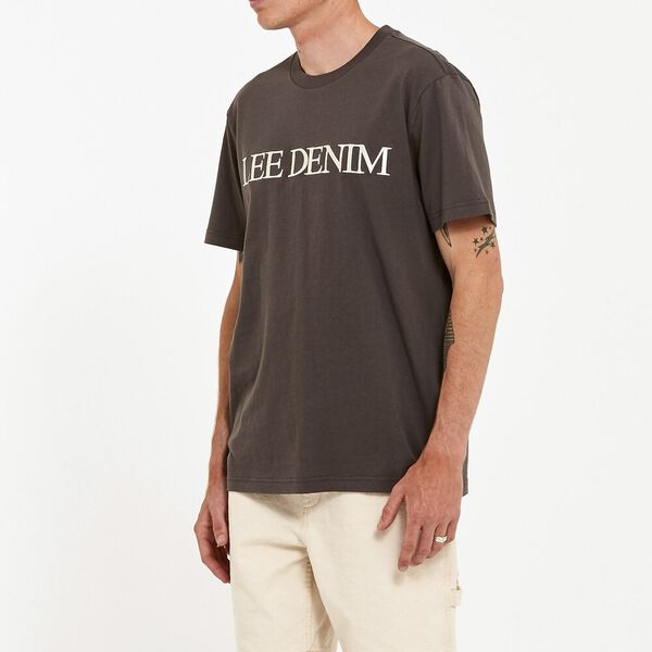 Lee Denim Tee Slate, Slate Grey, hi-res