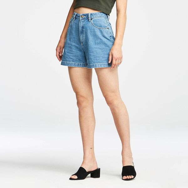 HIGH RELAXED SHORT REFINED BLUE