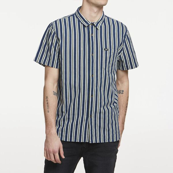 Archive Stripe Ss Shirt Blur Nights