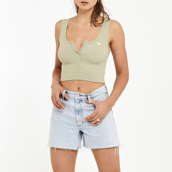 Henley Cami Dusty Green, Dusty Green, hi-res