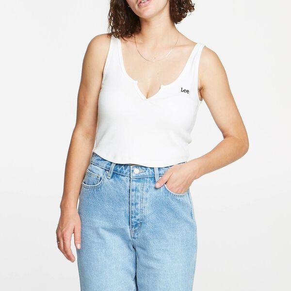 Hailey Rib Singlet Vintage White