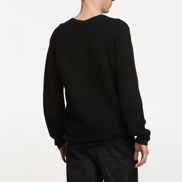 LINK KNIT CREW, BLACK, hi-res