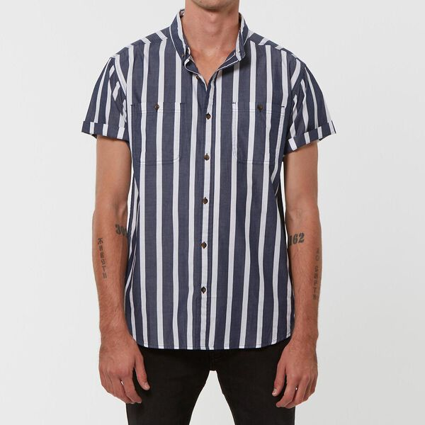 UNION S/S SHIRT BLUE STRIPE